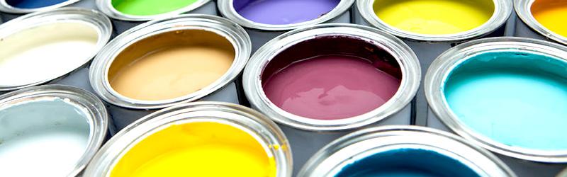 3種類の塗料